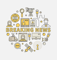 Breaking news colorful vector