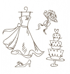 bride sketch vector image