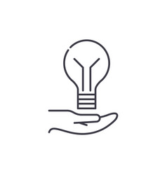 bright idea line icon concept bright idea vector image