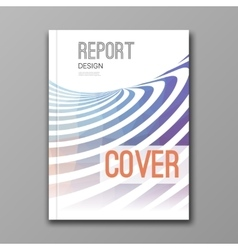 business design template cover brochure report vector image