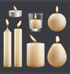 candles collection decorative birthday vector image