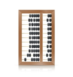 chinese vintage wooden abacus vector image