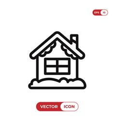 christmas house icon vector image