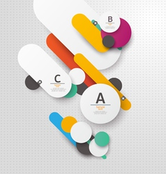 Colorful flat background vector image