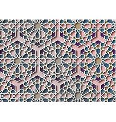 Colorful islamic pattern graphic print art mosaic vector