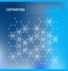 copywriting concept in honeycombs vector image