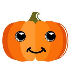 Cute pumpkin emoticon vector
