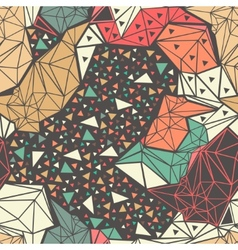 Deer skeleton with geometric polygonal ornament vector image