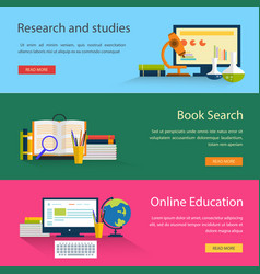 Electronic book search and online education study vector