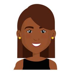 Elegant businesswoman black avatar character vector
