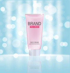 Face cream bottle tube template for ads or vector