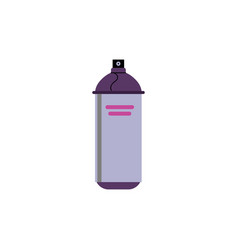flat spray aerosol paint can vector image