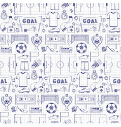 Football dodle seamless pattern vector