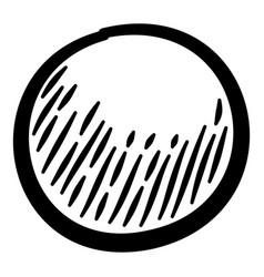 Grain condiment icon hand drawn style vector