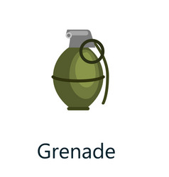 green grenade small bomb typically thrown by hand vector image