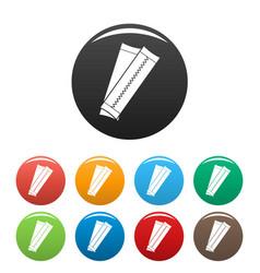 Gums icons set color vector