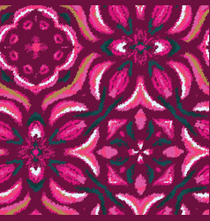 Hippy mottled ornate stylized graphical pink tile vector