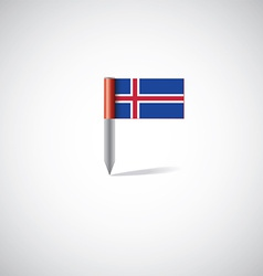 iceland flag pin vector image
