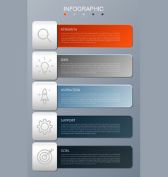 infographic modern with 5 options step vector image