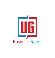 Initial letter ug logo template design vector