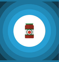 Isolated tomato sauce flat icon ketchup vector