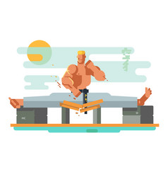 Karate character in splits vector
