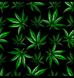 Marijuana leaf pattern vector