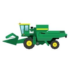 Modern green harvester vector image