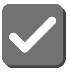 Ok Rounded Square Icon vector image