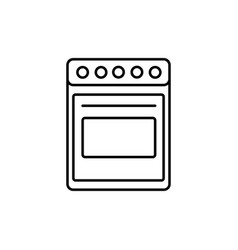 oven icon vector image