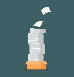 Pile document papers vector
