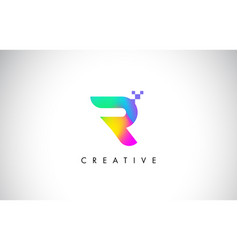 r colorful logo letter design creative rainbow vector image vector image