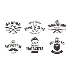 Retro Barber Emblems vector image