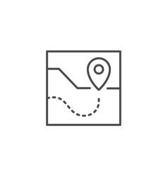 route scheme line outline icon vector image