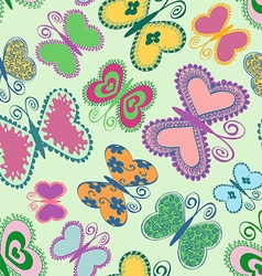 seamless patter butterflies vector image