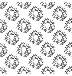 Seamless pattern made from doodle sun isolated on vector