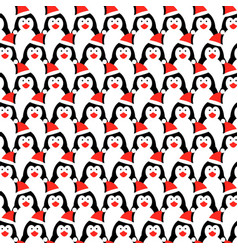 seamless pattern with penguins design vector image