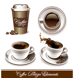 Set of coffee cup vector