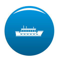 ship trip icon blue vector image