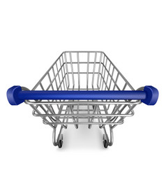 Shopping trolley empty cart first person view vector