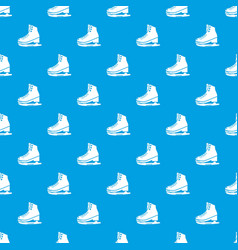 skates ice pattern seamless blue vector image