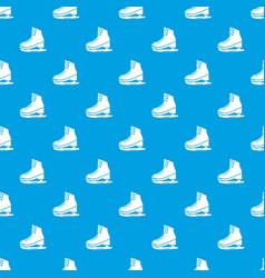 Skates ice pattern seamless blue vector