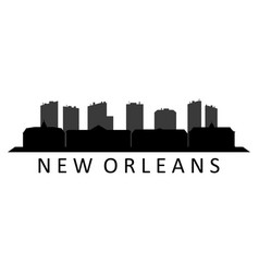 skyline new orleans vector image