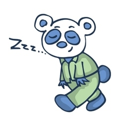 Sleepy panda funny cartoon design vector image