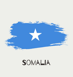 somalia watercolor national country flag icon vector image