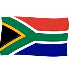 South african flag graphic vector