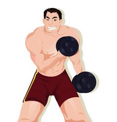 sport muscular athlete vector image