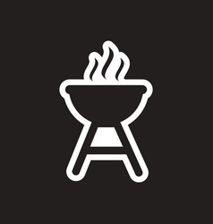 stylish black and white icon american barbecues vector image