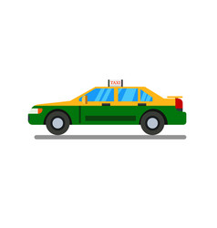 thai taxi flat design with isolated white vector image