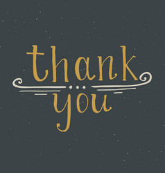 thank you lettering quote hand drawn calligraphic vector image